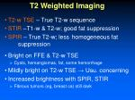 t2 weighted imaging
