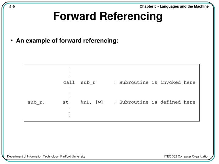Forward Referencing