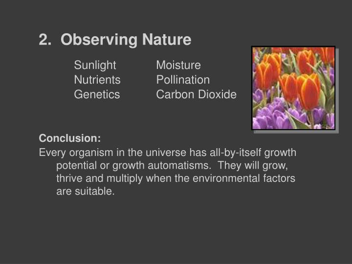 2.  Observing Nature