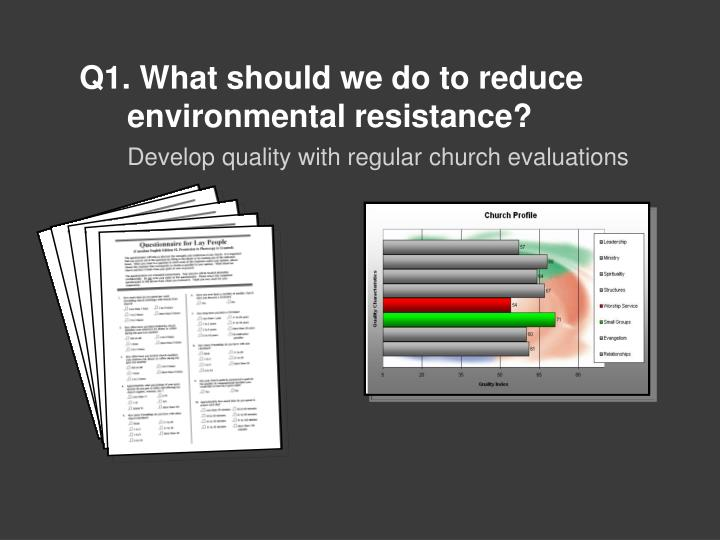 Q1. What should we do to reduce environmental resistance?