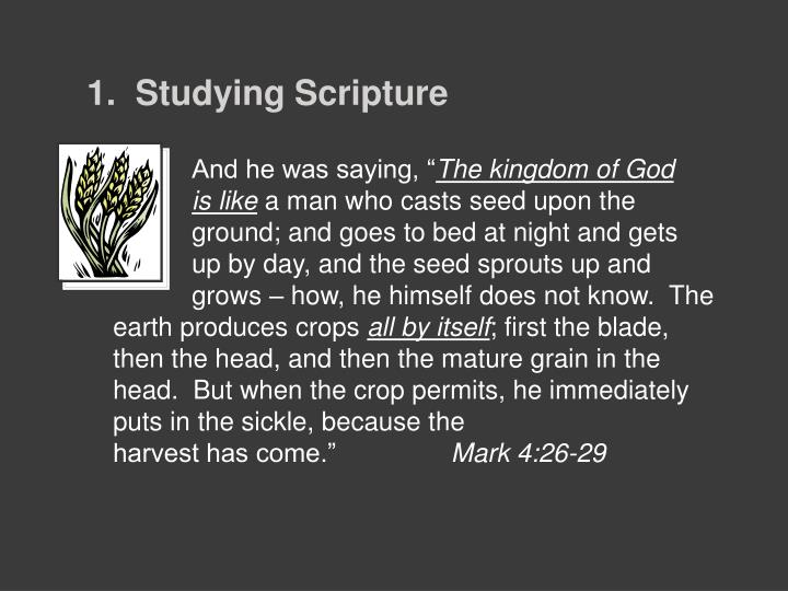1.  Studying Scripture