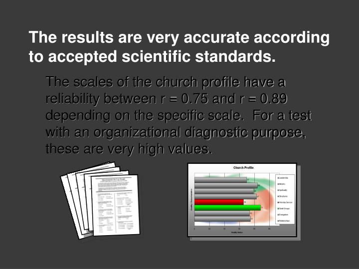 The results are very accurate according to accepted scientific standards.