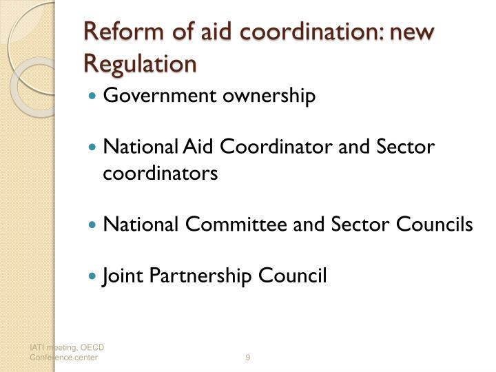 Reform of aid coordination: new Regulation