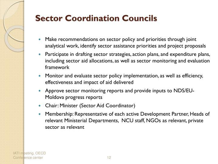 Sector Coordination Councils