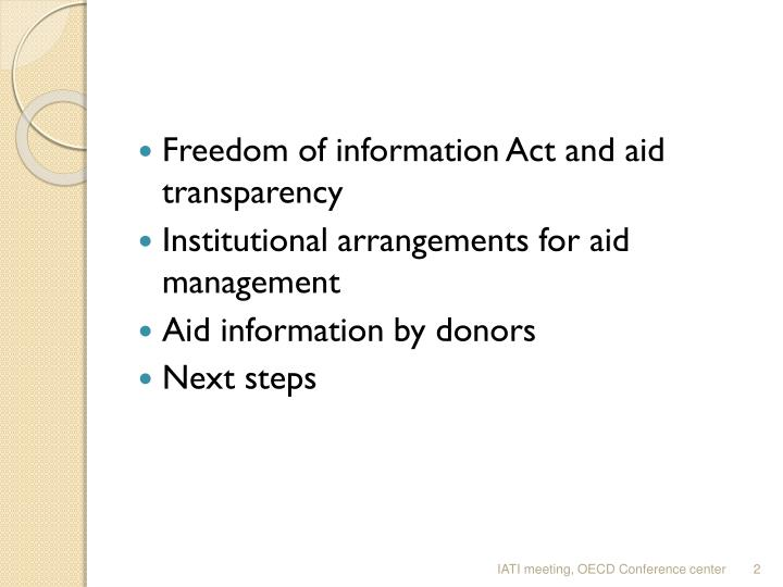 Freedom of information Act and aid transparency