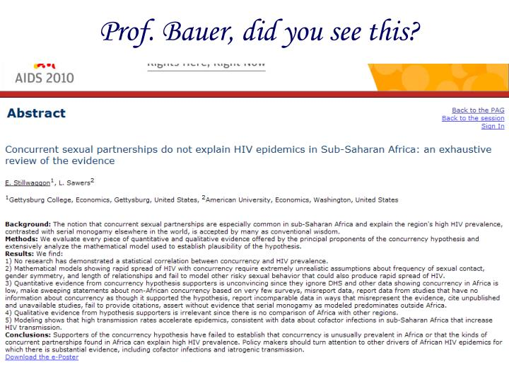 Prof. Bauer, did you see this?