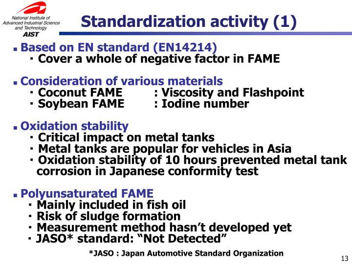 Standardization activity (1)