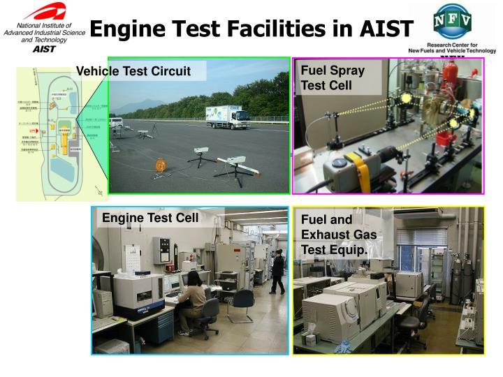 Engine Test Facilities in AIST