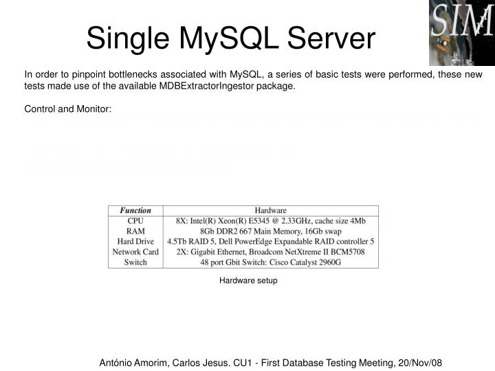 Single MySQL Server
