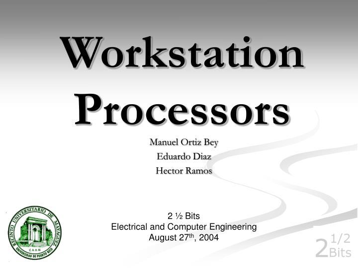 workstation processors n.