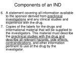 components of an ind