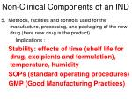 non clinical components of an ind3