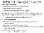 safety risk prolonged qt interval