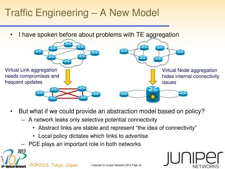 Traffic Engineering – A New Model