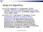 study of 2 algorithms