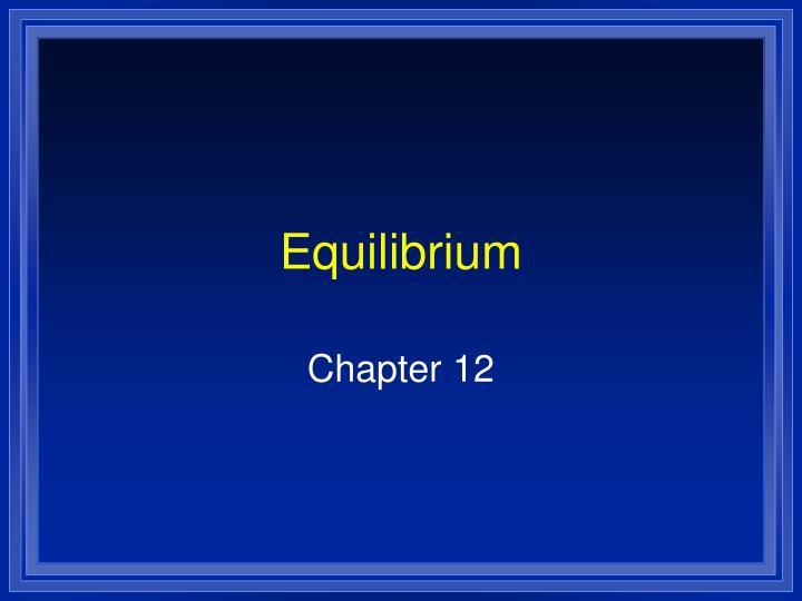 equilibrium n.