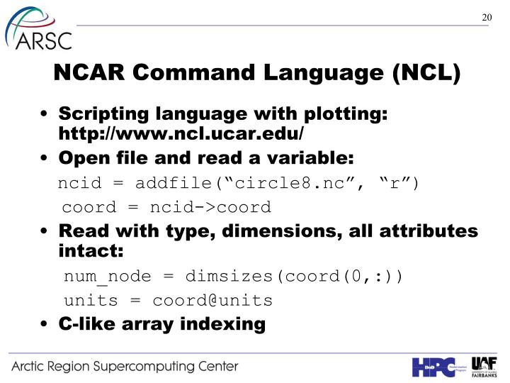 NCAR Command Language (NCL)