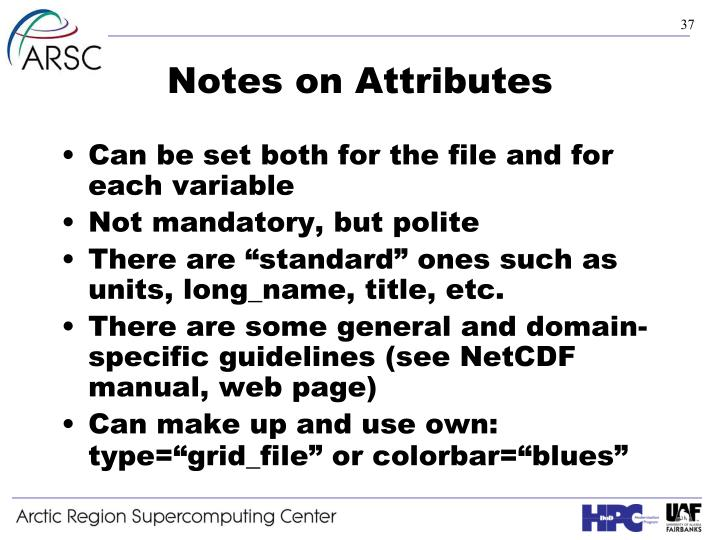 Notes on Attributes