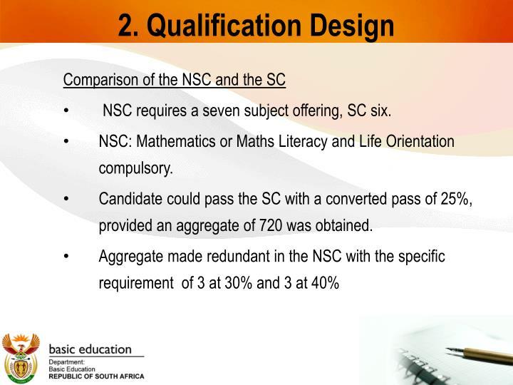 2. Qualification Design