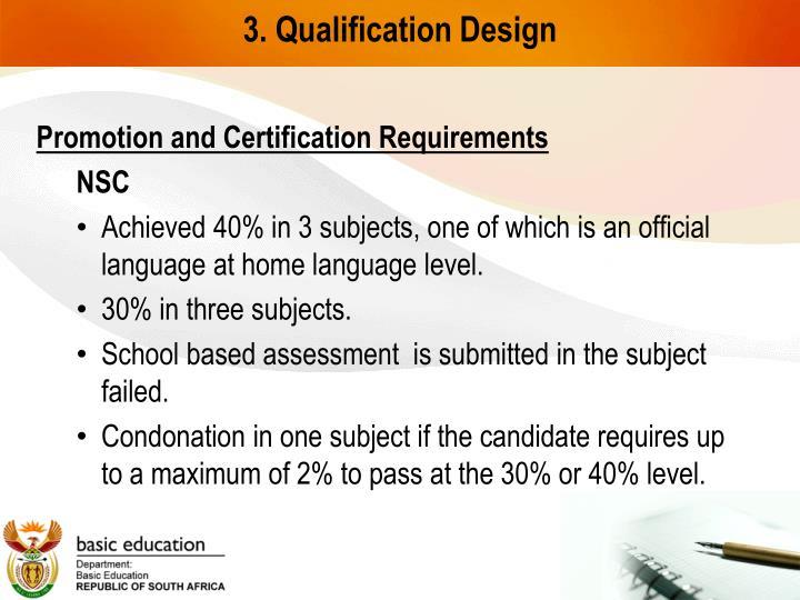 3. Qualification Design