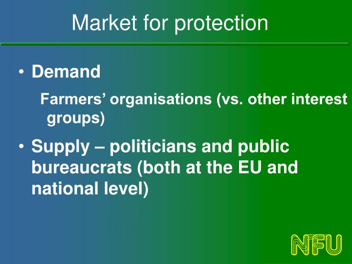 Market for protection