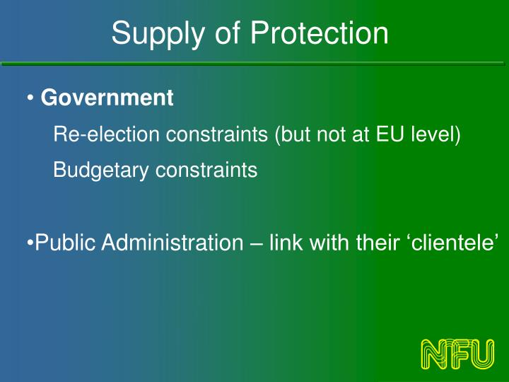 Supply of Protection