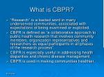 what is cbpr