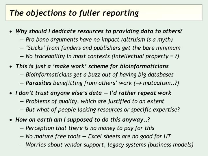 Why should I dedicate resources to providing data to others?