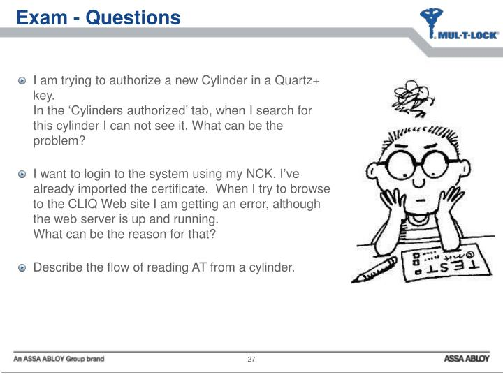 Exam - Questions