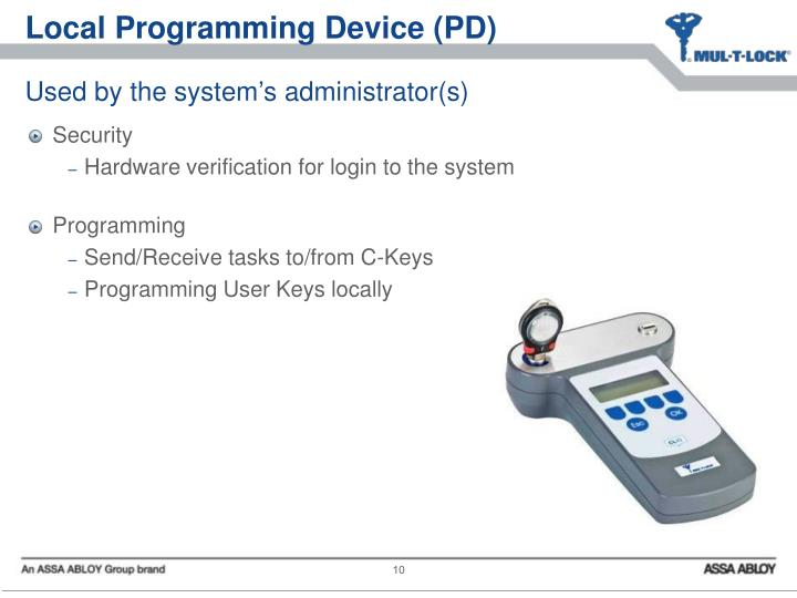 Local Programming Device (PD)