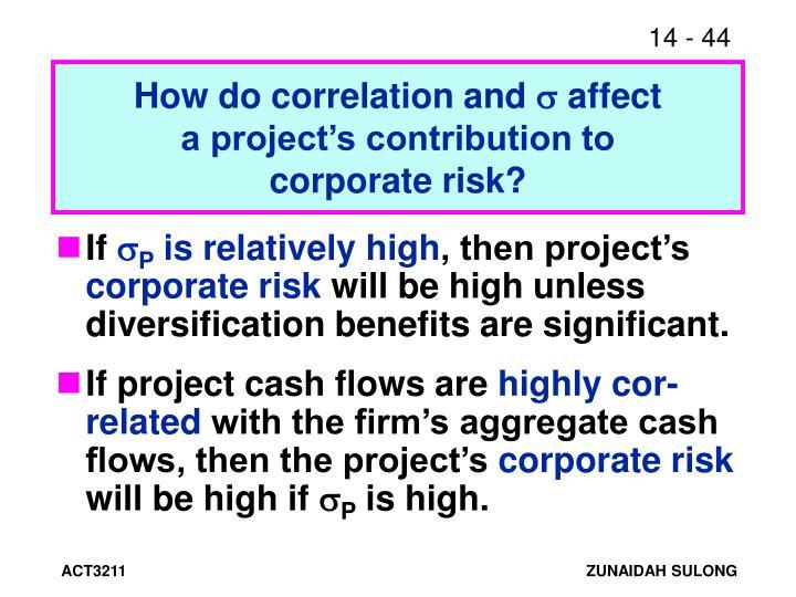 How do correlation and