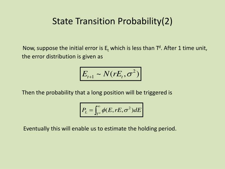 State Transition Probability(2)