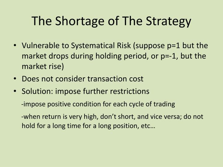 The Shortage of The Strategy