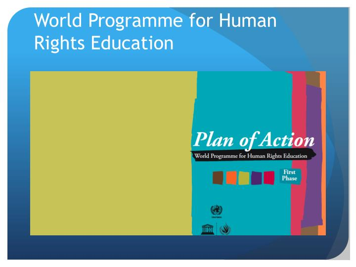 World Programme for Human Rights Education
