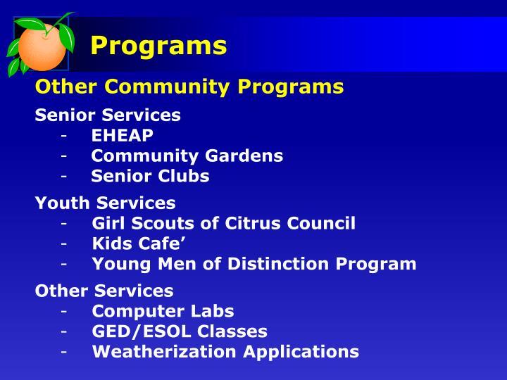 Other Community Programs