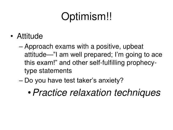Optimism!!