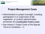 project management costs