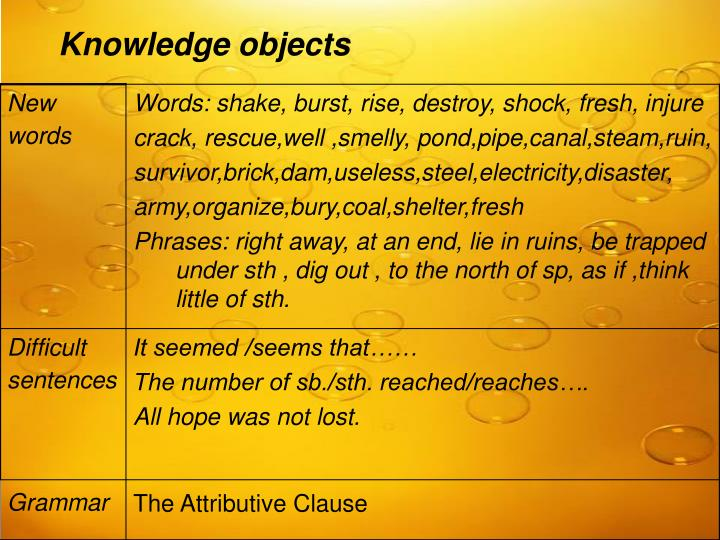 Knowledge objects