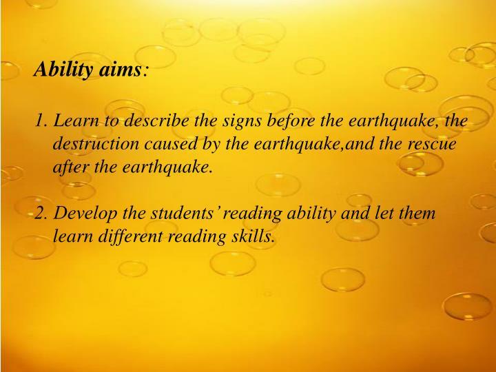 Ability aims