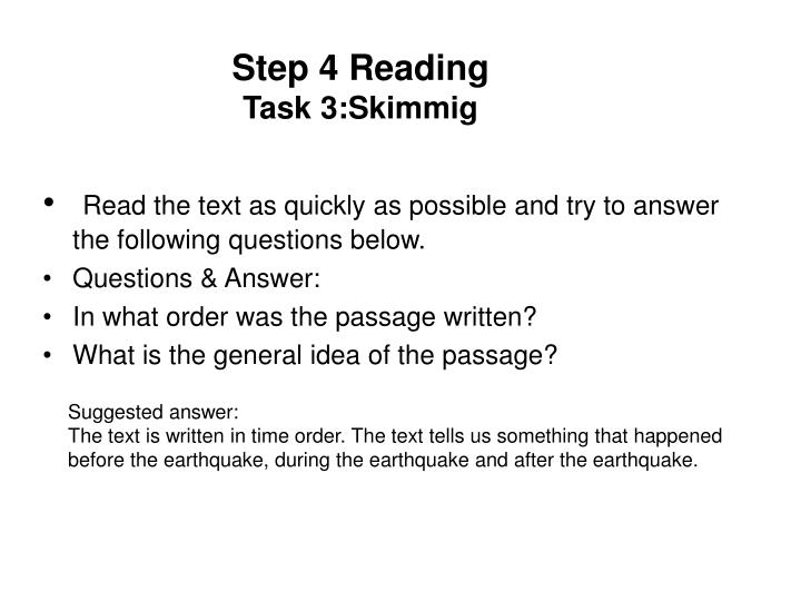 Step 4 Reading