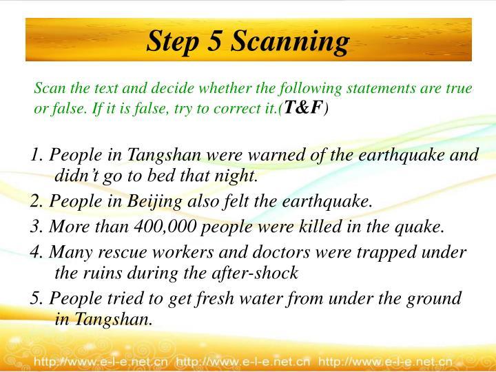 Step 5 Scanning
