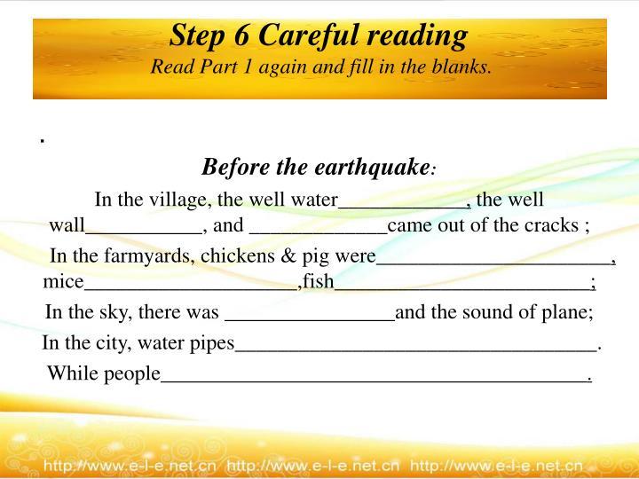 Step 6 Careful reading