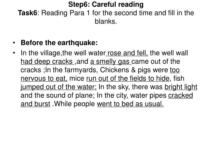 Step6: Careful reading