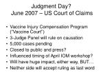 judgment day june 2007 us court of claims