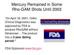 mercury remained in some rho gam shots until 2003