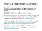 what is a convenience sample