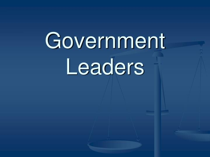 government leaders