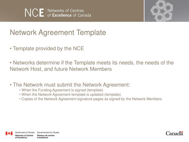 Network Agreement Template