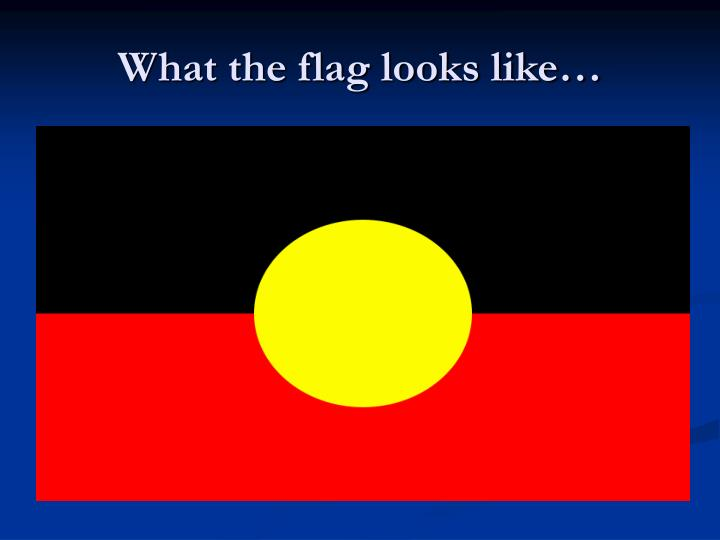 What the flag looks like