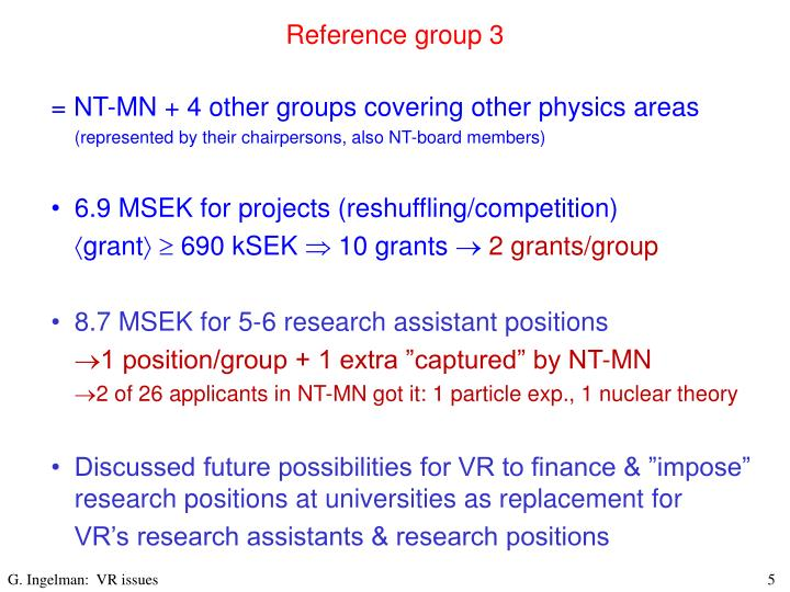 Reference group 3